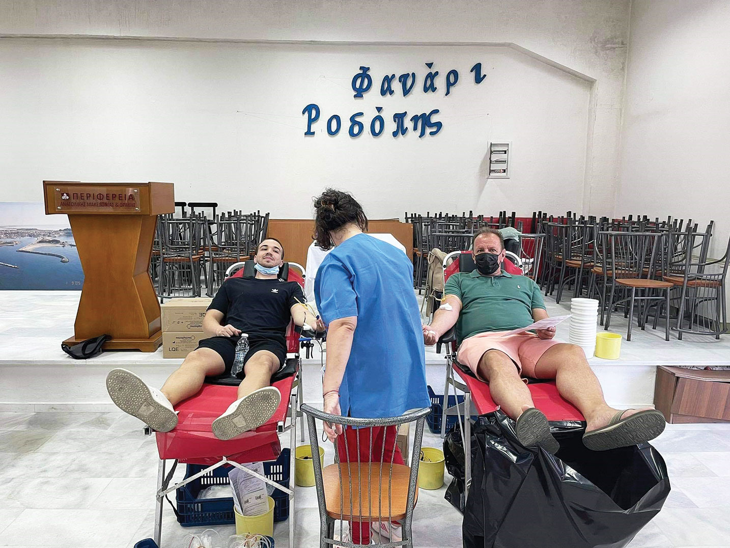 Πολλοί παραθεριστές έσπευσαν να δώσουν αίμα